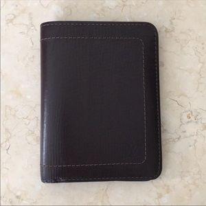 Authentic Louis Vuitton Brown Utah Leather Wallet